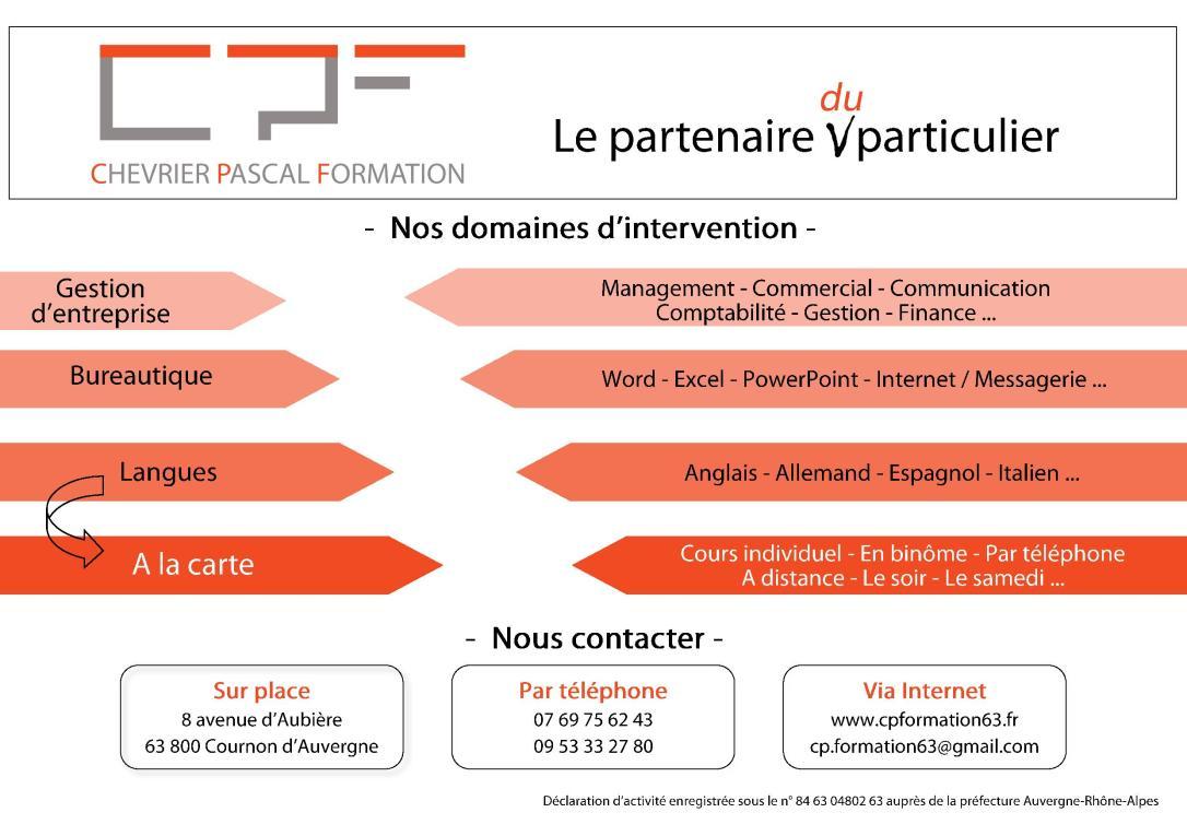 CP Formation - le partenaire du particulier