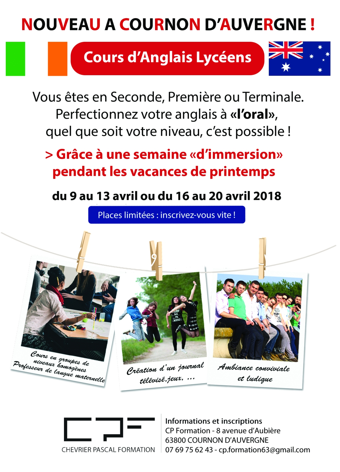 CP Formation - flyer anglais lycéen