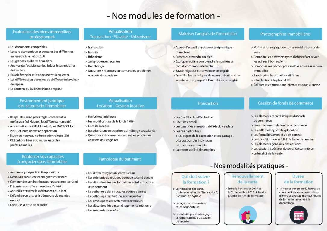CPFormation - Plaquette immo s1 2019-2